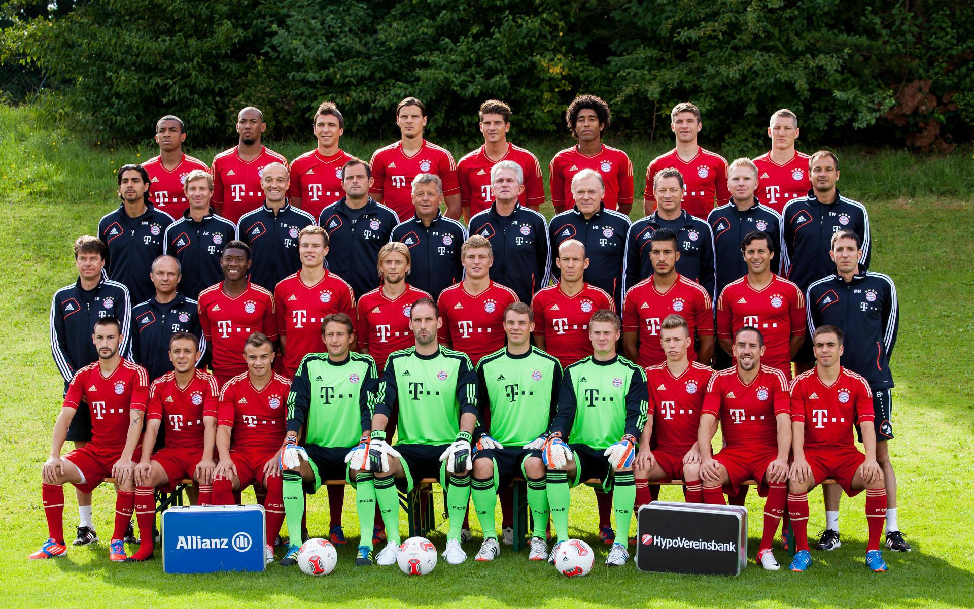 der aktuelle Kader des FC Bayern München Saison 2012/2013
